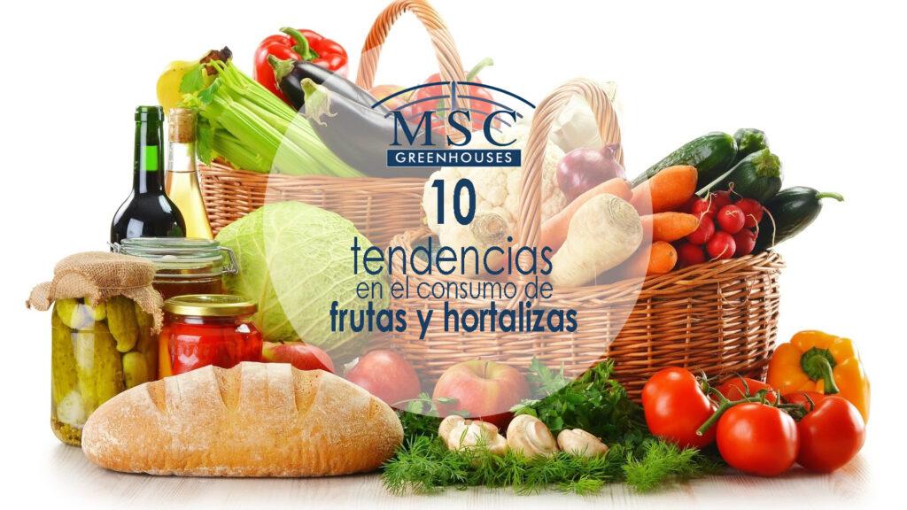 tendencia en el consumo de frutas y verduras